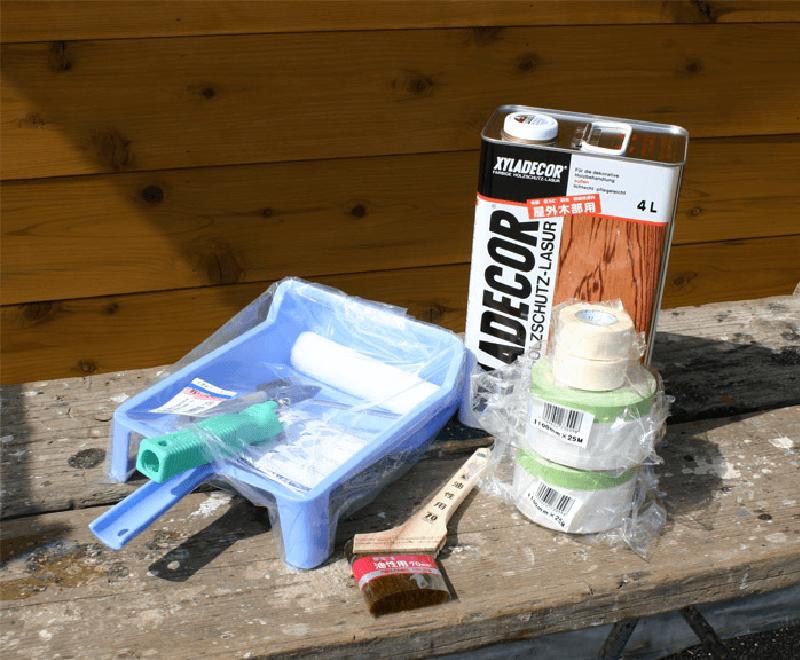 塗装で使用した道具 お客様の声 DIYガレージ 株式会社イーズ企画工房